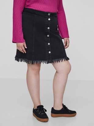 Junarose Amandas Skirt in Dark Gray Denim Size 14