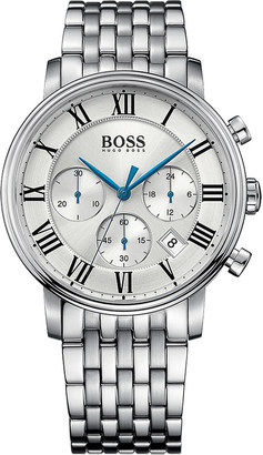 HUGO BOSS 1513322 elevated classic stainless steel watch $345 thestylecure.com