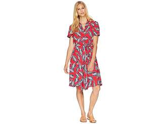 Chaps Printed Fit-and-Flare Dress Women's Dress