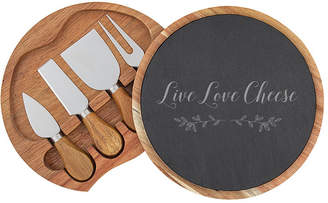 Cathy's Concepts Live Love Cheese Slate and Acacia Cheese Board w/Utensils