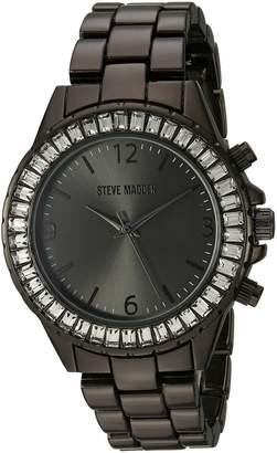 Steve Madden Women's Quartz Metal and Alloy Casual Watch, Color Black (Model: SMW093GU)