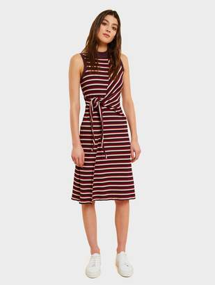 White + WarrenWhite + Warren Micro Rib Knit Tie Knot Dress