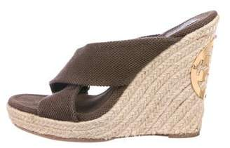 Tory Burch Crossover Espadrille Wedges