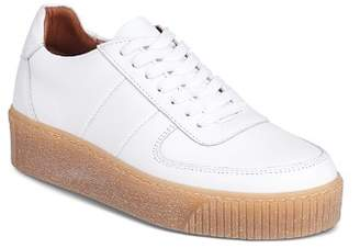 Whistles Women's Abbey Leather Lace Up Platform Sneakers