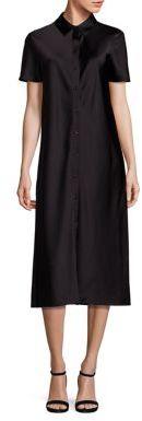 DKNY Midi Shirtdress $298 thestylecure.com