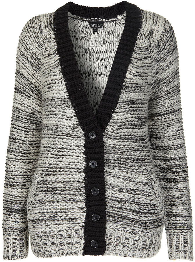 Knitted Chunky Reverse Cardi