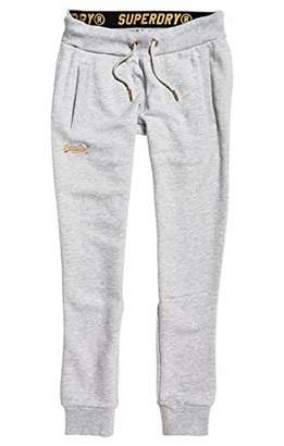 Superdry Women's Orange Label Elite Jogger Sports Trousers, (June Grey Marl Q4k), (Size: )