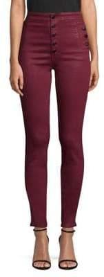 J Brand Natasha Sky High Skinny Coated Pants