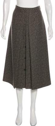 Michael Kors Virgin Wool Midi Skirt