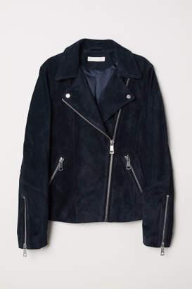 H&M Suede Biker Jacket - Blue