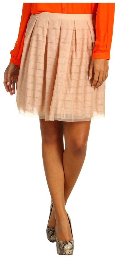 BCBGMAXAZRIA Alegra Lace Skirt (Bare Pink) - Apparel