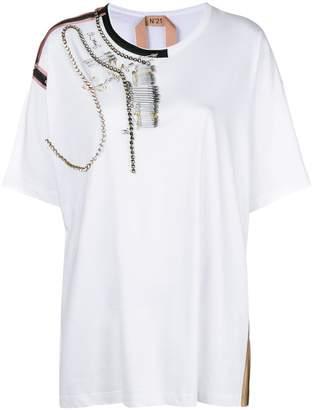 No.21 embellished T-shirt