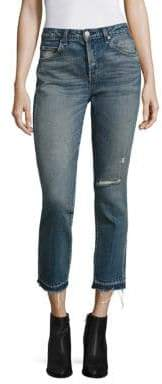 Amo Babe Distressed Straight-Leg Jeans