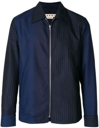 Marni two tone pinstripe jacket
