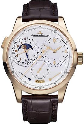 Jaeger-LeCoultre Q6042421 Duometre rose-gold automatic leather strap watch