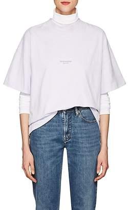 Acne Studios Women's Stella Logo Cotton T-Shirt - Chalk Lilac