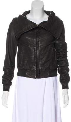 AllSaints Leather Textured Jacket