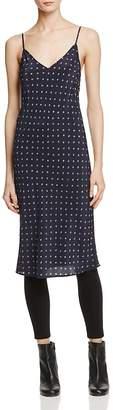 Vince Dot-Print Silk Slip Dress $335 thestylecure.com
