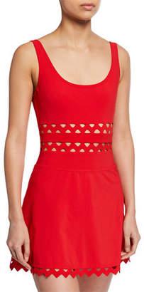 Karla Colletto Zelda A-Line Coverup Skirt w/ Rickrack Trim