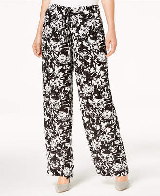 JM Collection Printed Wide-Leg Pants, Created for Macy's