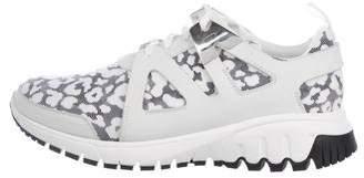 Neil Barrett Leopard Print Neoprene Sneakers
