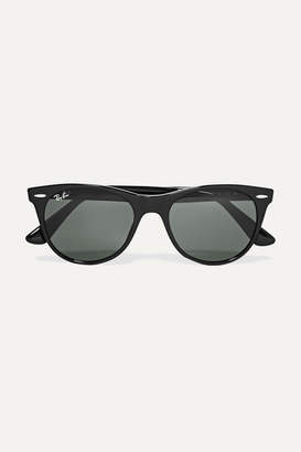 Ray-Ban The Wayfarer Ii Round-frame Acetate Sunglasses - Black