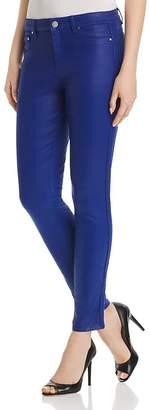 Elie Tahari Azella Braid-Trim Jeans in Maritime Blue