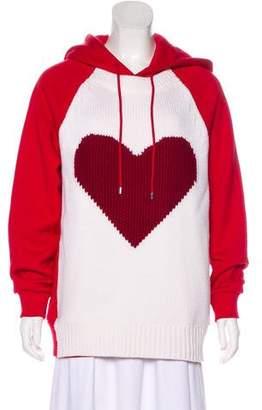 Burberry Intarsia Hooded Sweatshirt w/ Tags