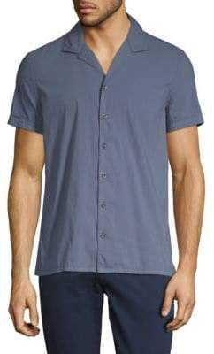 J. Lindeberg Cotton-Blend Short Sleeve Shirt