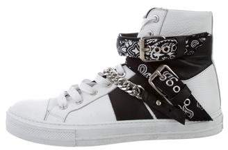 Amiri Sunset Bandana High-Top Sneakers