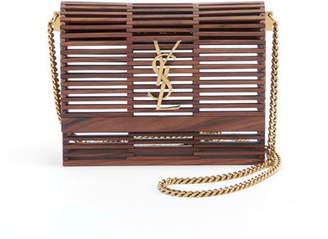 Saint Laurent Small Kate Wooden Weave Box Bag