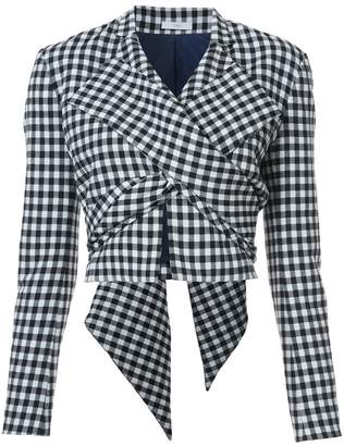Tome cropped check jacket