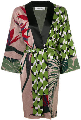 Circus Hotel contrast print kimono