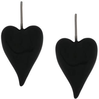 Tomas Maier enamel heart earrings