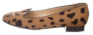 Charlotte Olympia Ponyhair Kitty Loafers