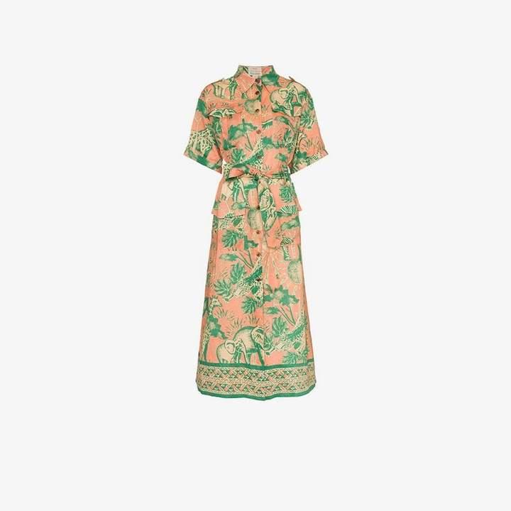 Chufy safari linen shirt dress