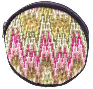 Jonathan Adler Wool Needlepoint Coin Purse