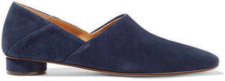 The Row Noelle Suede Loafers - Navy