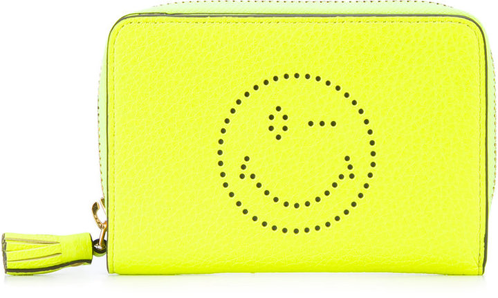 Anya HindmarchAnya Hindmarch smiley zip around wallet