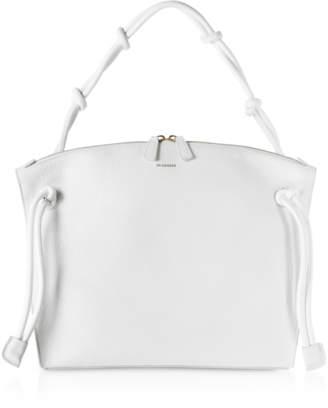 Jil Sander Natural Leather Medium Hill Shoulder Bag
