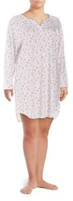 Karen Neuburger Plus Floral Printed Nightshirt
