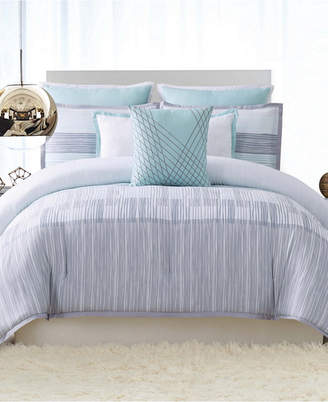Vince Camuto Home Kasu Stripe King 3 Piece Duvet Cover Set Bedding