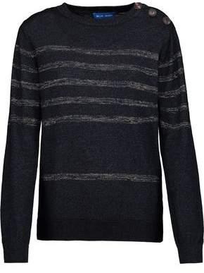 MiH Jeans Sophia Metallic Striped Cotton-Blend Sweater