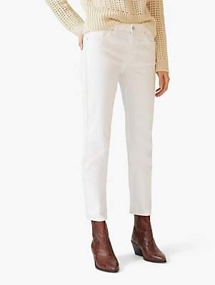 Jigsaw Herringbone Stripe Dalston Straight Leg Jeans