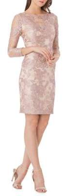 JS Collections Long Sleeve Lace Sheath Dress