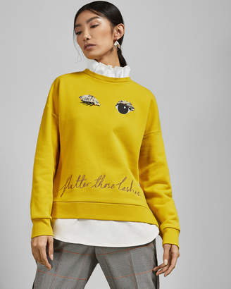 Ted Baker HENREET Frill detail cotton sweater
