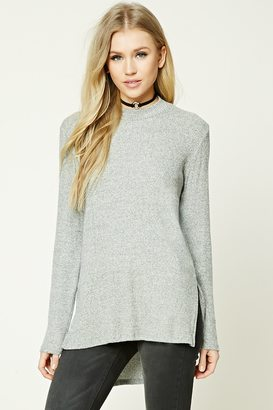 FOREVER 21+ High-Low Fleece Tunic $19.90 thestylecure.com