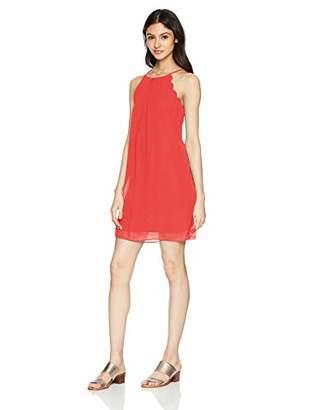 Amy Byer A. Byer Junior's Scalloped Edge Shift Dress,XL