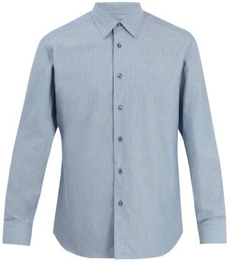 Brioni Single-cuff cotton-chambray shirt