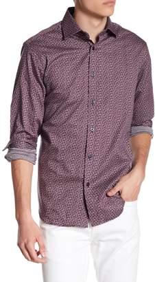 James Tattersall Print Classic Fit Woven Shirt